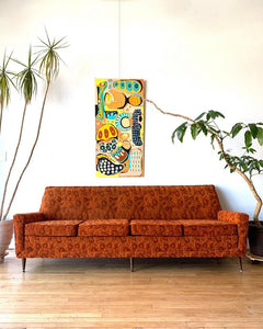 Mid-Century Sofa in Orange