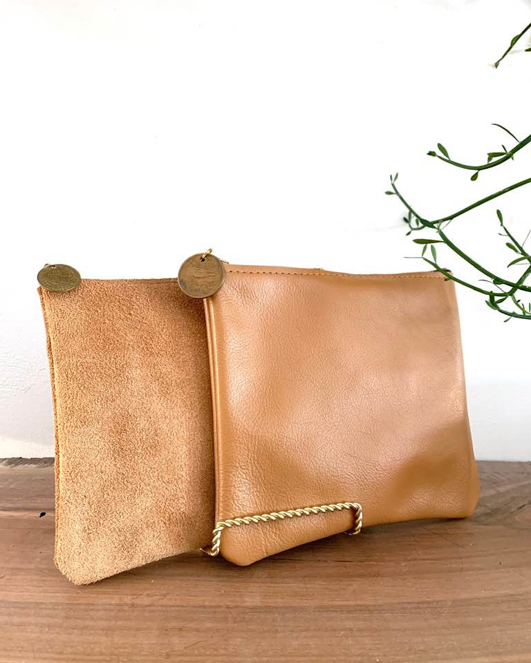 Large Accessory Bag in Leather