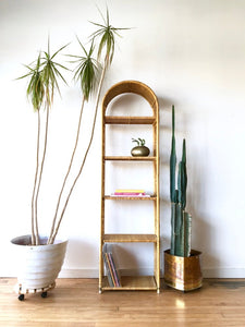 Tall Wicker Shelf