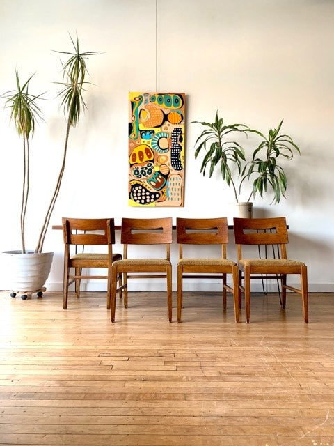 Mid-Century Set of Four Chairs