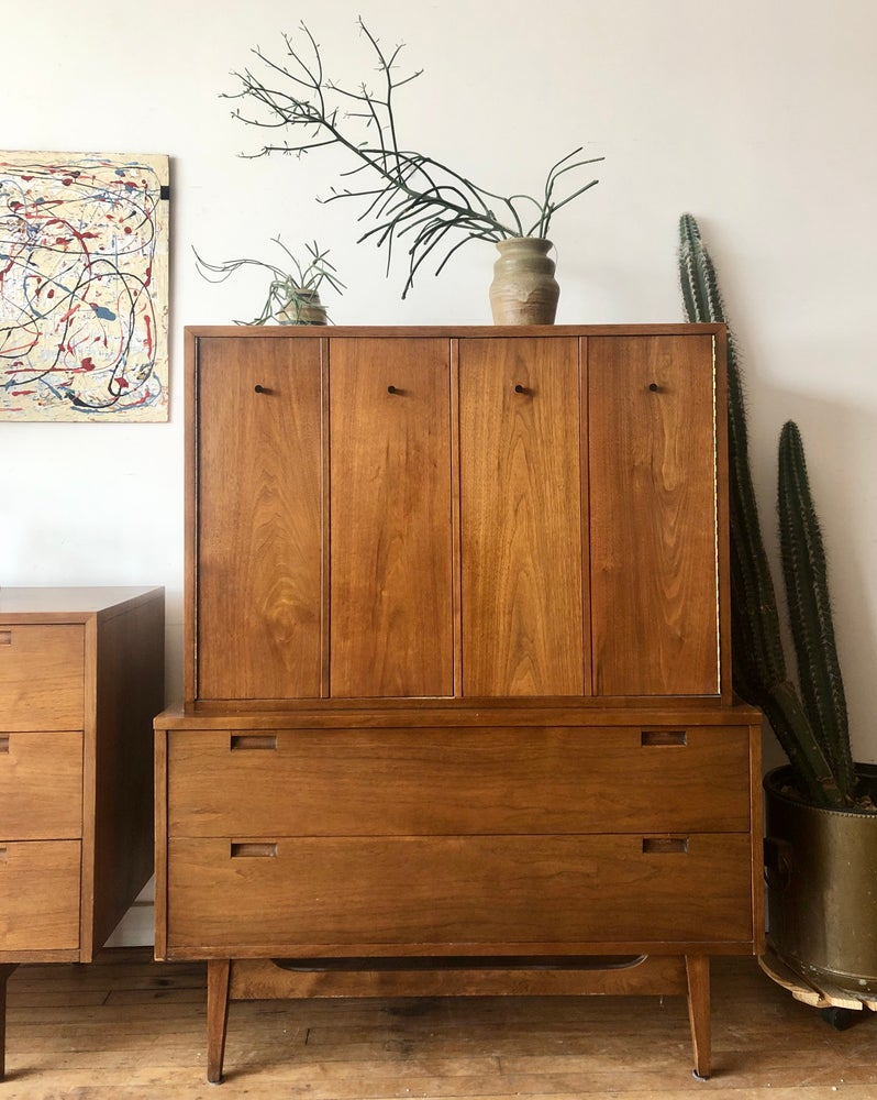 Mid-Century Gentleman's Chest (wood top)