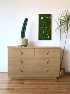 Mid-Century Low Dresser in Blonde