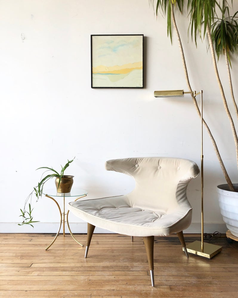 Mid-Century Retro Lounge Chair in Cream