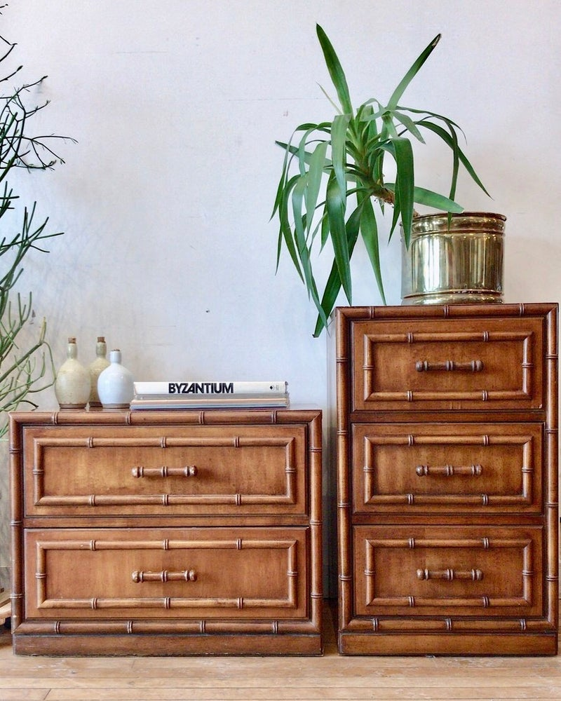 Mid-Century Bamboo Side Tables
