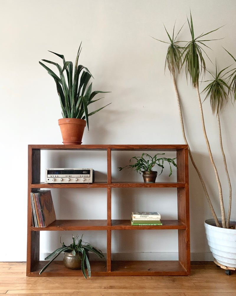 Vintage Record Shelf