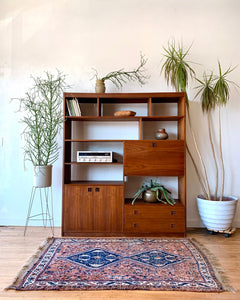 Mid-Century Wall Unit with Rosewood Pulls