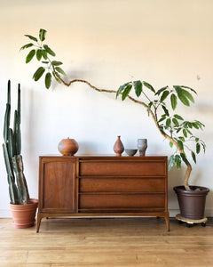 Mid-Century Wood Top Credenza by Lane