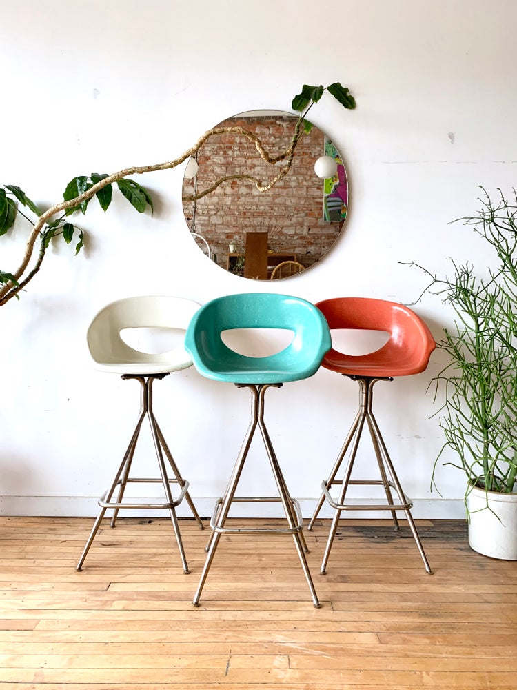 Mid-Century Fiber Glass Bar Stools