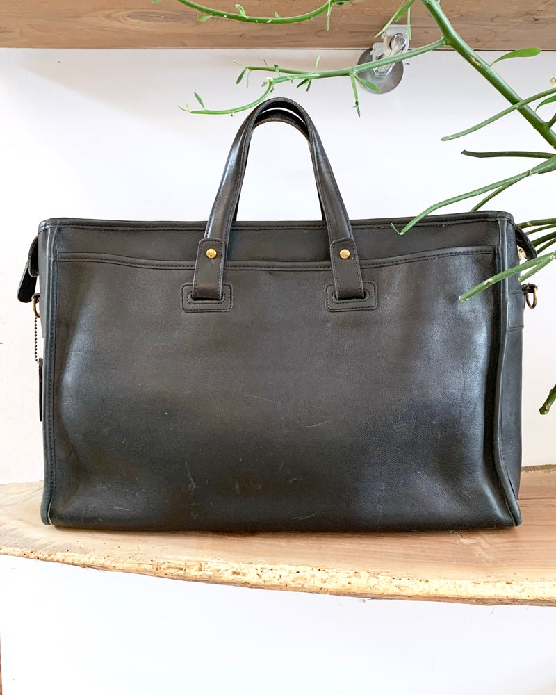 Vintage Coach Black Leather Attaché
