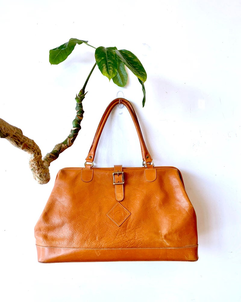 Vintage Leather Weekender