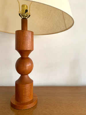 Mid Century Lamp in Teak