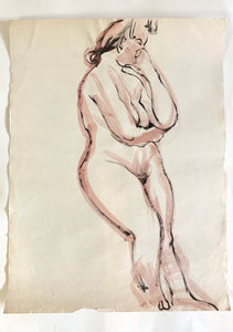 Vintage Nude Sketch #1 by Tom Sheffield