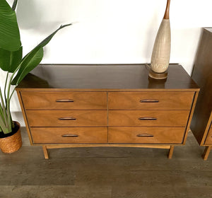 Mid-Century Six Drawer Dresser