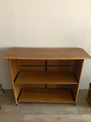 Vintage Wicker Bar