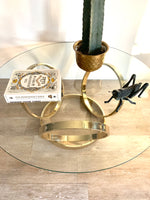 Vintage Brass Ring Coffee Table