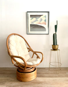 Vintage Rattan Lounge Chair