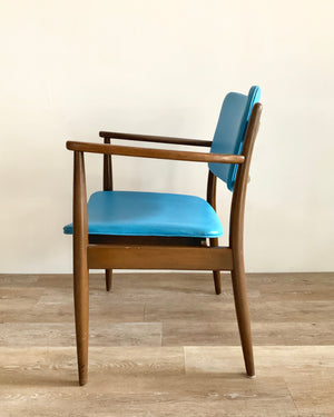 Mid-Century Chair in Blue