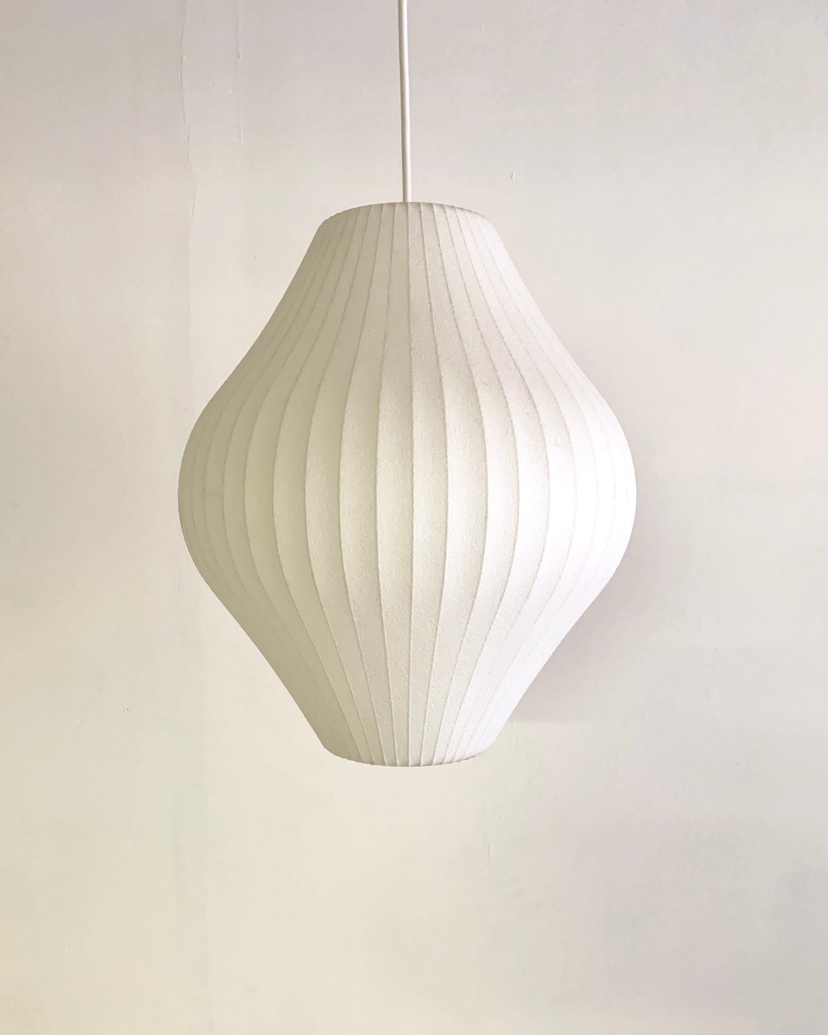 "George Nelson ""Pear"" Bubble Lamp by Herman Miller"