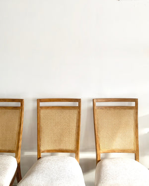 Set of Four Cane Back Chairs by Drexel
