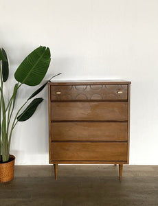 Mid-Century Four Drawer Dresser