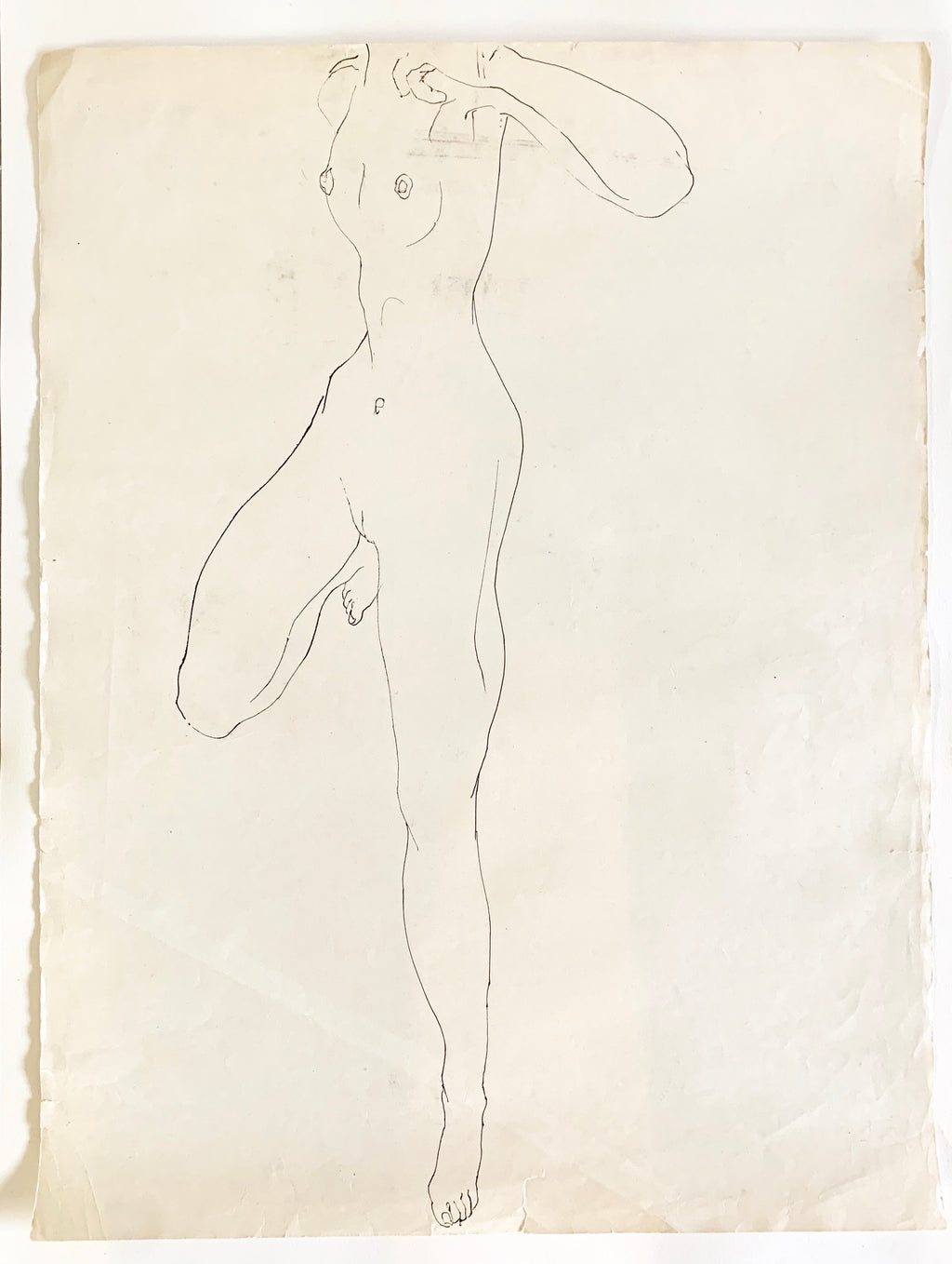 Vintage Nude Sketch #2 by Tom Sheffield