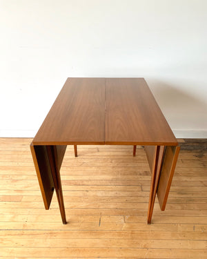 Mid-Century Walnut Dining Table with Wood Top