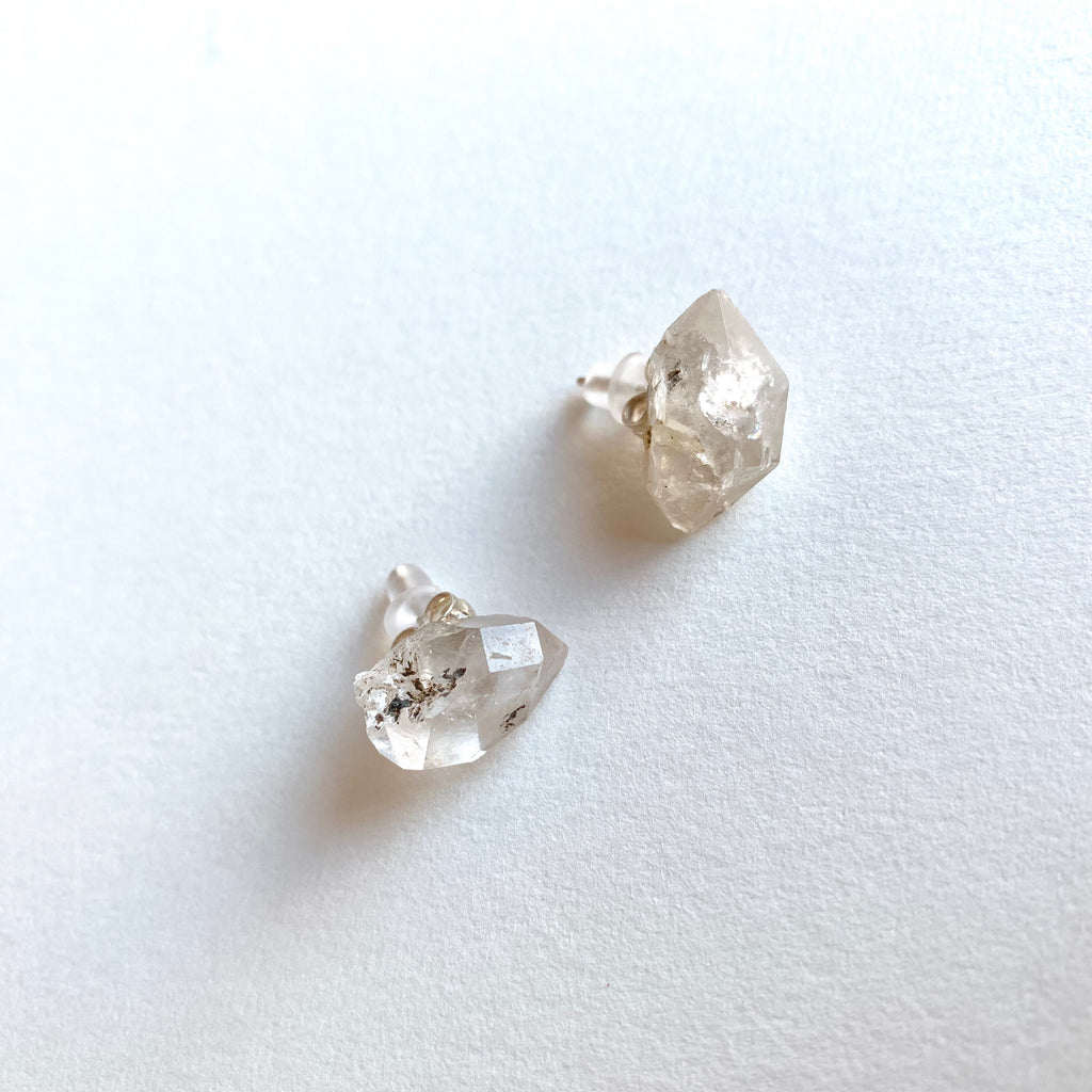 Crystal Quartz Stud Earrings