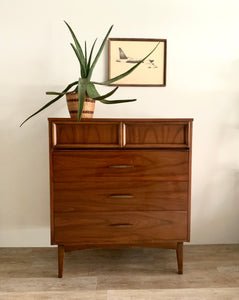 Tall Four Drawer Mid-Century Dresser