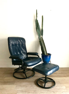 Vintage Canadian Lounge Chair in Blue