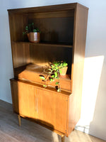 Mid-Century Hutch / Bookcase with Drawer