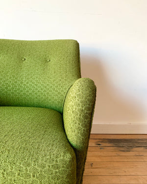 Vintage Swivel Chair in Green