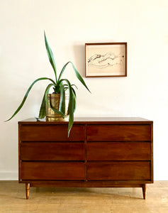 Mid-Century Six Drawer Dresser by Broyhill