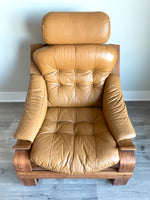 Vintage Rosewood Lounge Chair in Leather