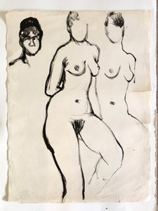 Vintage Nude Sketch #3 by Tom Sheffield