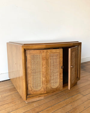 Vintage End Table with Doors