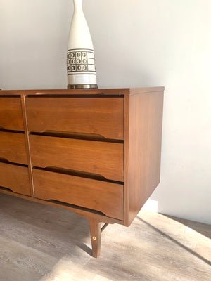Mid-Century Nine Drawer Dresser by Stanley