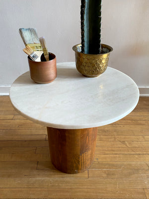 Vintage Marble Top Side Table