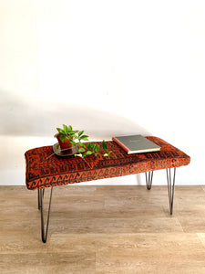 Jackson Coffee Table / Bench in 1950s Persian Weave