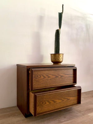 Mid-Century Nightstand with Two Drawers