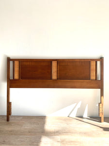 Mid-Century Headboard with Cane Detail