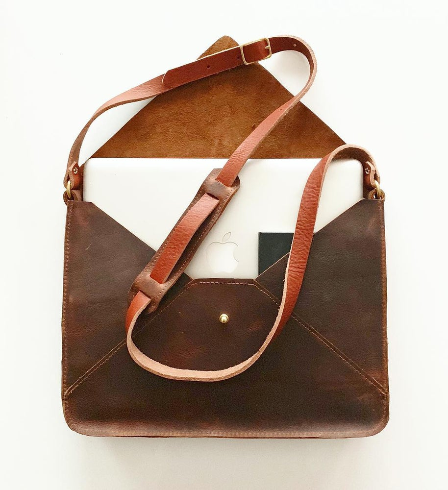The Envelope Laptop Bag in Leather
