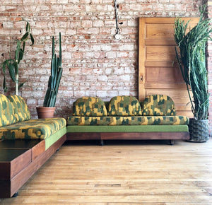 Mid-Century Sectional in Green