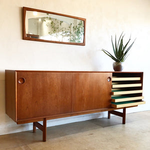 Large teak credenza by Frederik Kayser for Gustav Bahus
