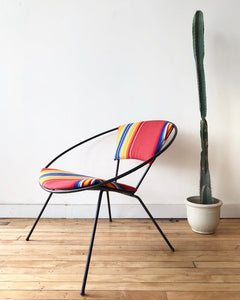 Mid-Century Lounge Chair in Vintage Sarape