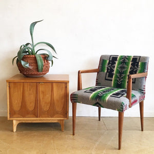 Mid-Century Arm Chair in Pendleton Wool Remant