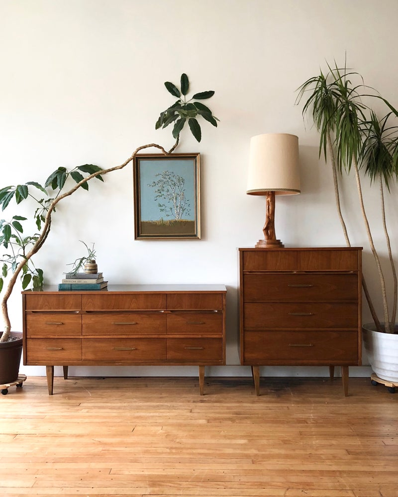 Mid-Century Tall & Low Dresser Set