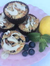 Load image into Gallery viewer, Lemon Blueberry Crumble Muffins