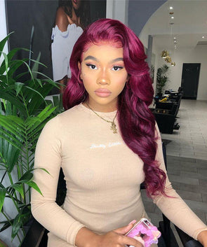 Purple red wig - satisionline
