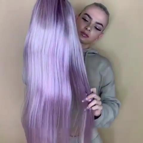 Luxury lavender purple wig - satisionline