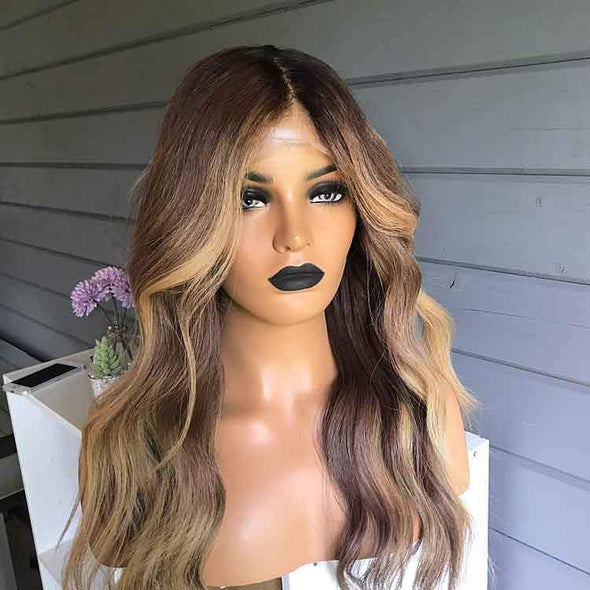 Golden Brown Wig - satisionline